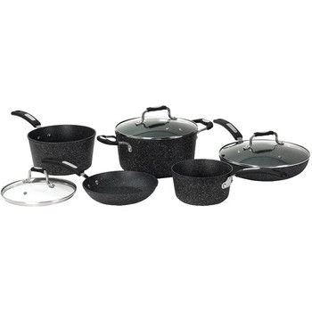 THE ROCK(TM) by Starfrit(R) 8-Piece Cookware Set with Bakelite(R) Handles