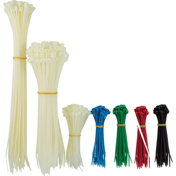 Plastic Cable Ties, Assorted Sizes, 1,000 pk