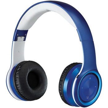 Bluetooth(R) Over-the-Ear Headphones with Microphone (Blue)