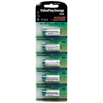 ValuePaq Energy 23A Alkaline Cylindrical Batteries, 5 pk