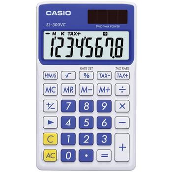 Solar Wallet Calculator with 8-Digit Display (Blue)