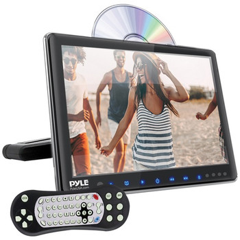 """9.4"""" LCD Universal Headrest Monitor with DVD/CD Player & IR & FM Transmitters"""