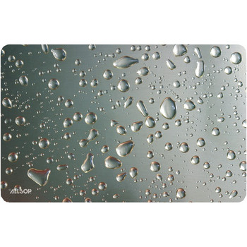 Widescreen Metallic Raindrop Mouse Pad