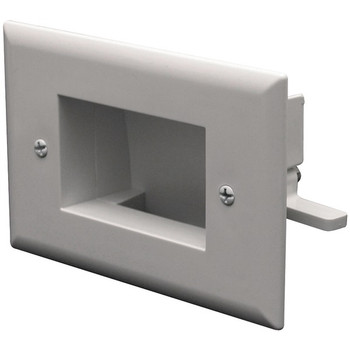 Easy-Mount Slim-Fit Recessed Low-Voltage Cable Plate