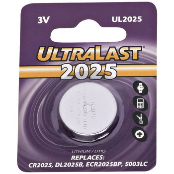 UL2025 CR2025 Lithium Coin Cell Battery