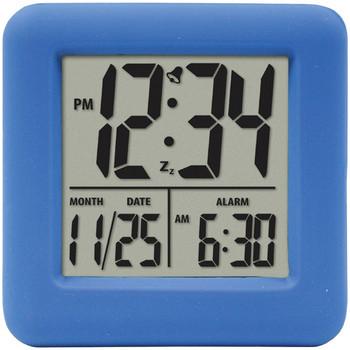 Soft Cube LCD Alarm Clock (Blue)