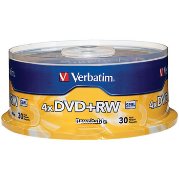 4X DVD+RWs, 30-Count Spindle