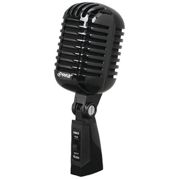 Classic Retro Vintage-Style Dynamic Vocal Microphone (Black)