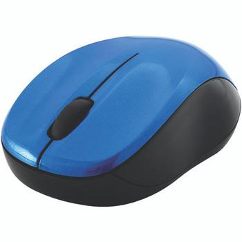 Silent Wireless Blue-LED Mouse (Blue & Black)