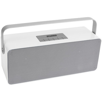 Portable Bluetooth(R) Speaker with Aluminum Handle (White)