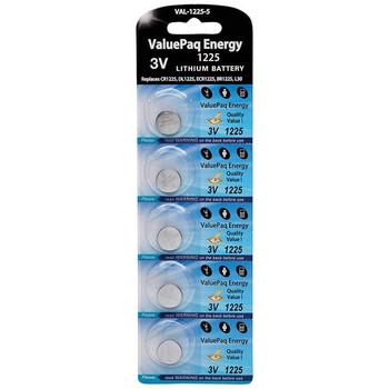 ValuePaq Energy 1225 Lithium Coin Cell Batteries, 5 pk