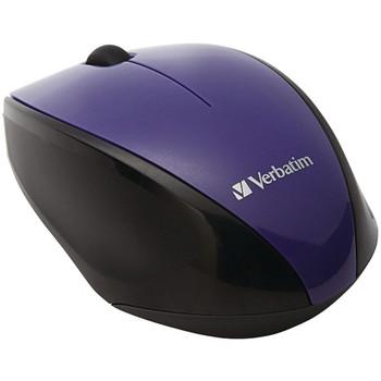 Wireless Multi-Trac Blue LED Optical Mouse (Purple)