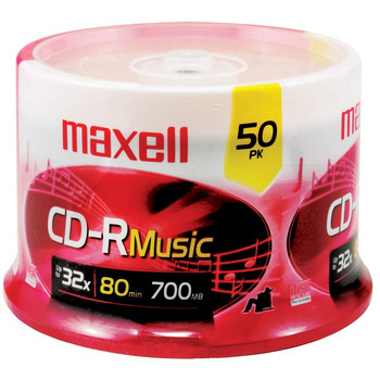 80-Minute Music CD-Rs (50-ct Spindle)