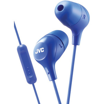 Marshmallow(R) Inner-Ear Headphones with Microphone (Blue)