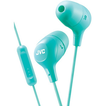 Marshmallow(R) Inner-Ear Headphones with Microphone (Green)