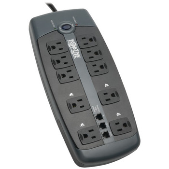 10-Outlet Surge Protector with Telephone Protection (without Coaxial Protection)