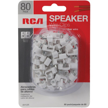 Speaker Wire Clips, 80-Count