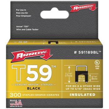 T59(TM) Insulated Staples, 300 Pack (Black)