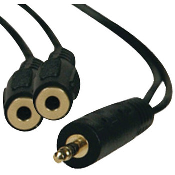 3.5mm Stereo Cable Y-Adapter, 1ft