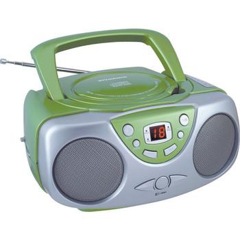 Portable CD Boom Box with AM/FM Radio (Green)