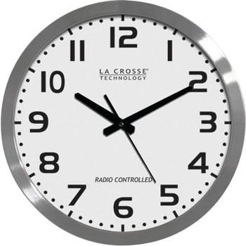 """16"""" Brushed-Metal Atomic Wall Clock"""