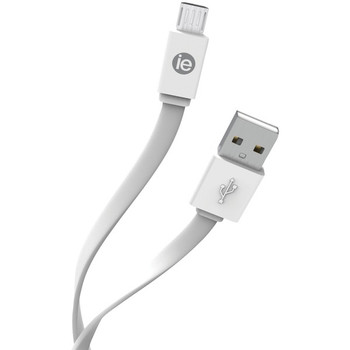 Charge and Sync Flat Micro USB to USB-A Cable, 4 Feet (White)