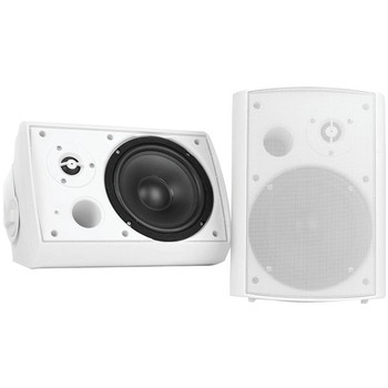 """5.25"""" Indoor/Outdoor Wall-Mount Bluetooth(R) Speaker System (White)"""