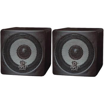 "3"" 100-Watt Mini-Cube Bookshelf Speakers (Black)"