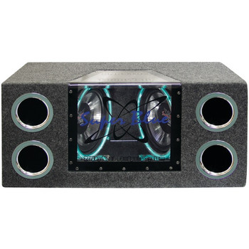 """Dual Bandpass System with Neon Accent Lighting (10"""", 1,000 Watts)"""