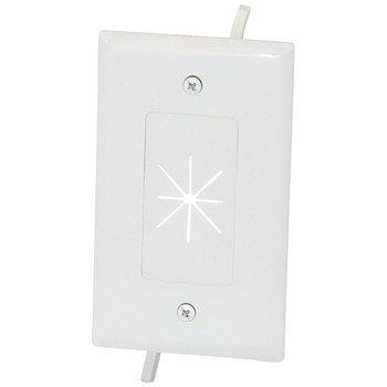 1-Gang Cable Plate with Flexible Opening (White)