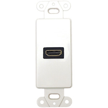 Decor Wall Plate Insert with 90deg HDMI(R) Connector