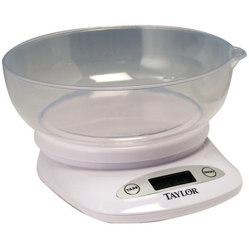 4.4lb-Capacity Digital Kitchen Scale with Bowl