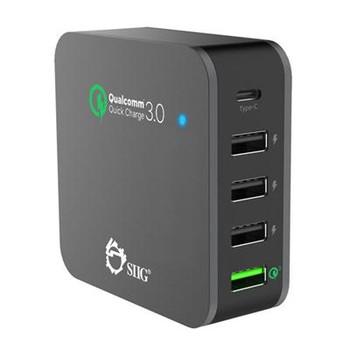 5Port Smart USB Charger Blk