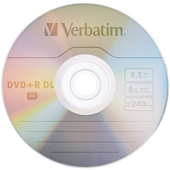 8.5GB 8x Branded AZO DVD+R DLs, 5 pk with Slim Cases