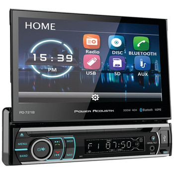 """7"""" Incite Single-DIN In-Dash Motorized LCD Touchscreen DVD Receiver with Detachable Face & Bluetooth(R)"""