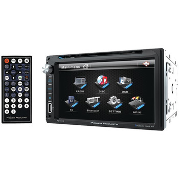 """6.5"""" Double-DIN In-Dash LCD Touchscreen DVD Receiver (With Bluetooth(R))"""