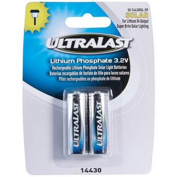 UL14430SL-2P 14430 Lithium Batteries for Solar Lighting, 2 pk