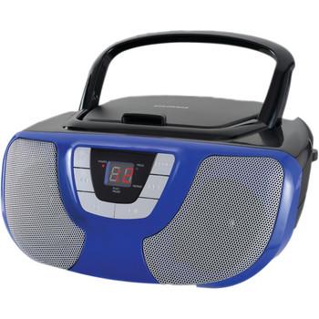 Portable CD Radio Boom Box (Blue)