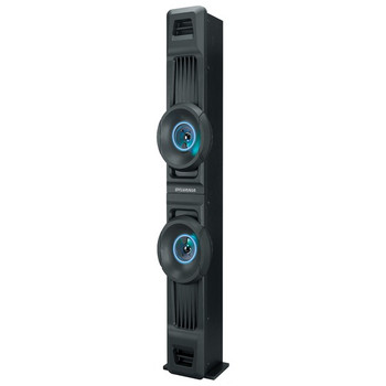 Dual 3-Inch 10-Watt Bluetooth(R) Light-up Tower Speaker with FM Radio