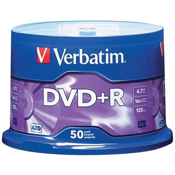 4.7GB DVD+Rs (50-ct Spindle)