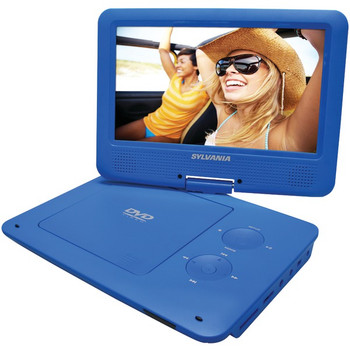 """9"""" Portable DVD Player with 5-Hour Battery (Blue)"""