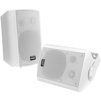 """6.5"""" Indoor/Outdoor Wall-Mount Bluetooth(R) Speaker System (White)"""