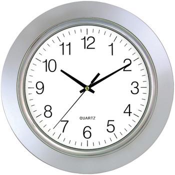"13"" Chrome Bezel Round Wall Clock"