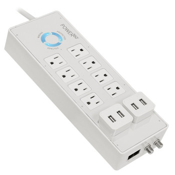 Power360(R) 8-Outlet Floor Strip with USB Pluggables
