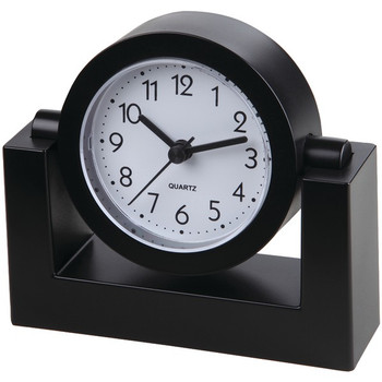"4"" Swivel Black Desktop Clock"