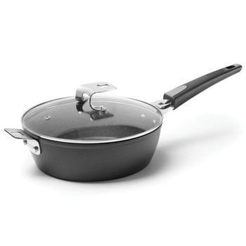 THE ROCK(TM) by Starfrit(R) 9-Inch Fry/Cake Pan with T-Lock Detachable Handle