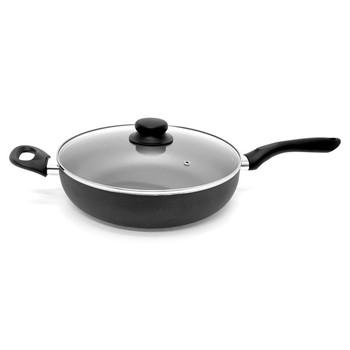 11-Inch Nonstick Aluminum Deep Fry Pan with Lid