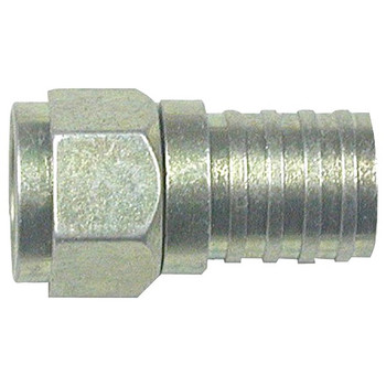 RG6 Zinc-Plated Connectors with O-Ring & Gel, 100 pk