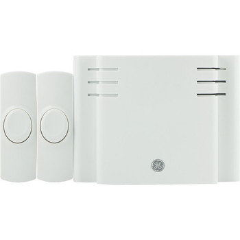 8-Chime Battery-Operated Door Chime with 2 Wireless Push Buttons