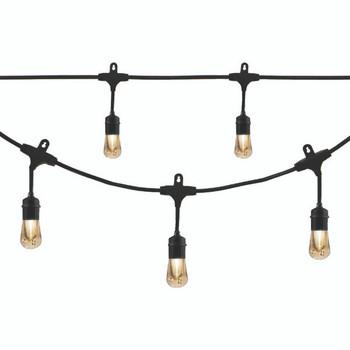 Vintage LED Cafe Lights(TM) (48ft; 24 Acrylic Bulbs)